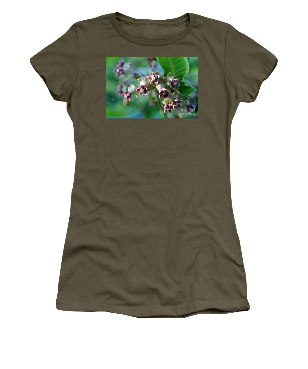 Milkweed Bloom Women's T-Shirt featuring the photograph Milkweed Bloom by Renee Croushore