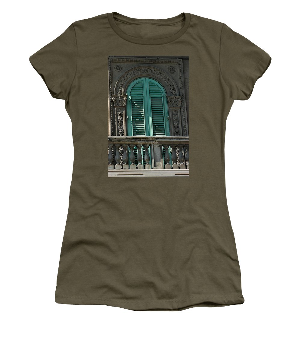 Architecture Women's T-Shirt featuring the photograph Morning Sun by Joseph Yarbrough
