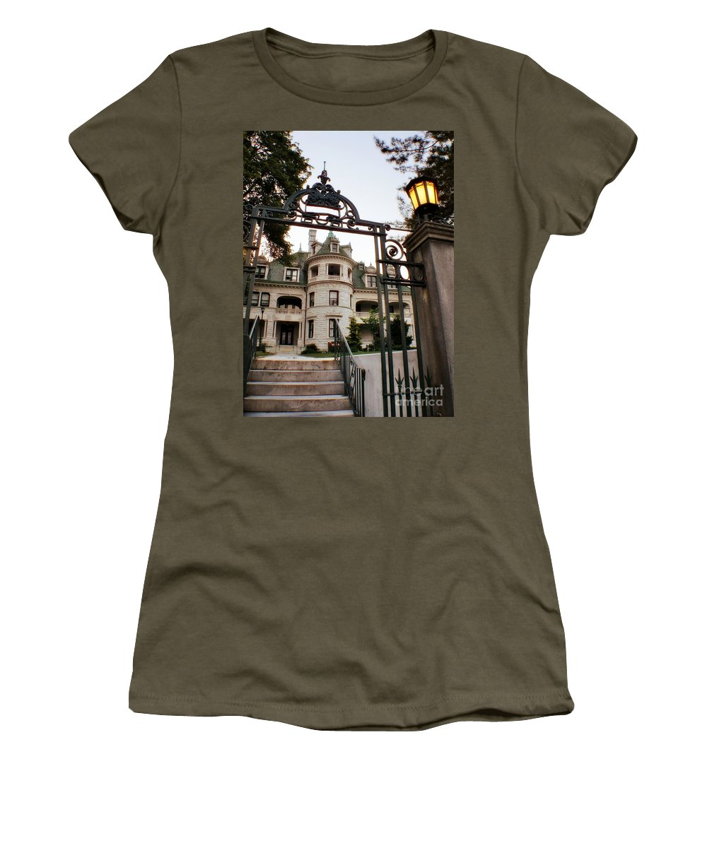 Women's T-Shirt featuring the photograph Morrison Hall Occc by Chet B Simpson