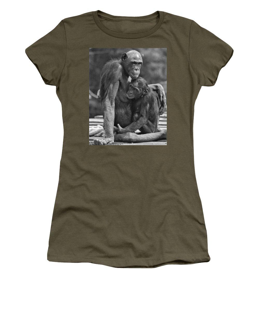 Bonobo Women's T-Shirt featuring the photograph Motherhood by James Ekstrom