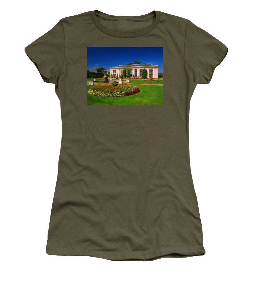 Mount Edgcumbe Country Park Women's T-Shirt featuring the photograph Mount Edgcumbe Orangery by Darren Galpin