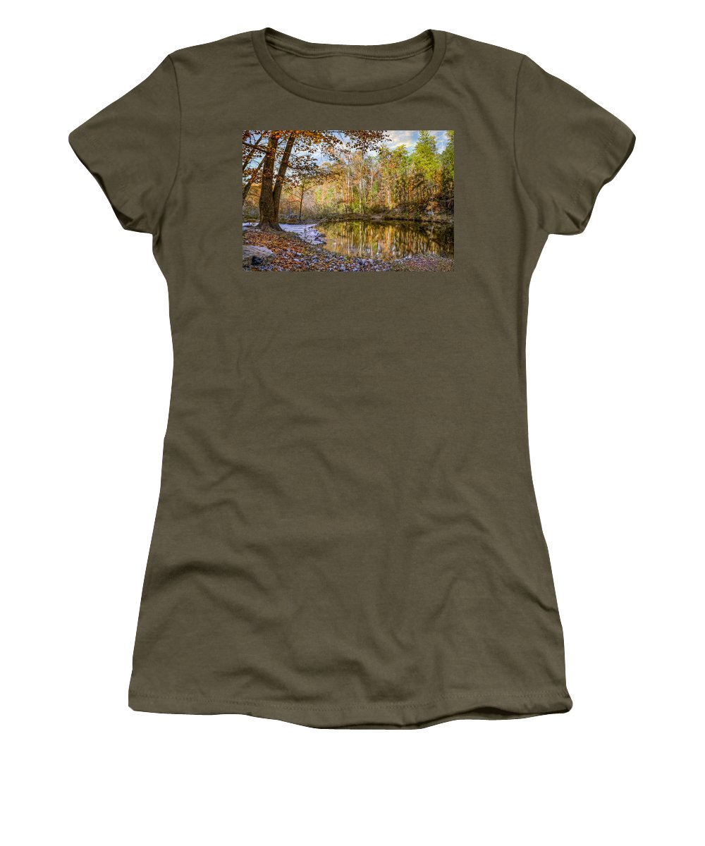 Appalachia Women's T-Shirt (Athletic Fit) featuring the photograph Mountain River by Debra and Dave Vanderlaan