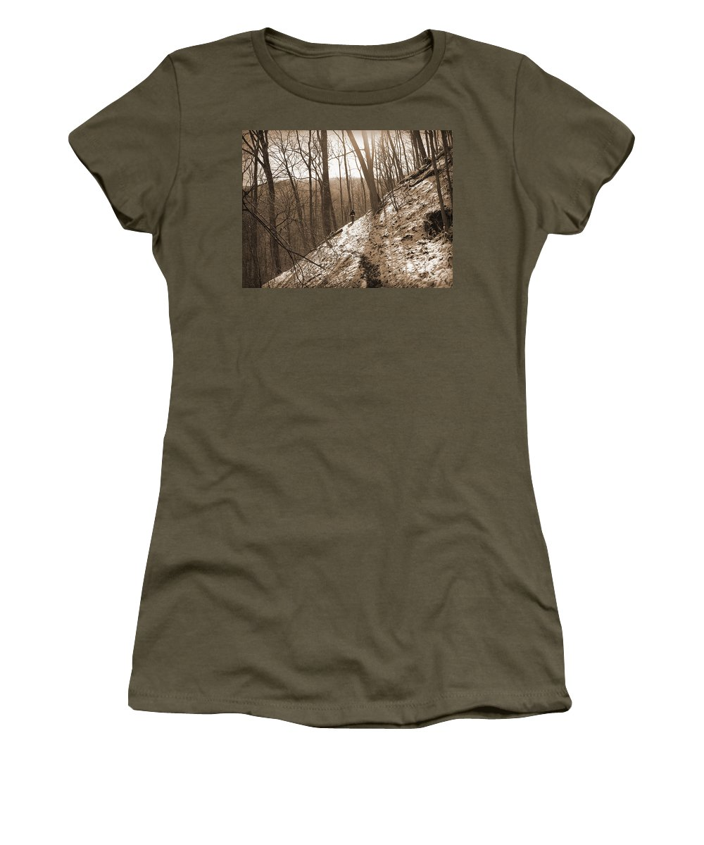 Solitary Women's T-Shirt featuring the photograph Mountain Side by Melinda Fawver
