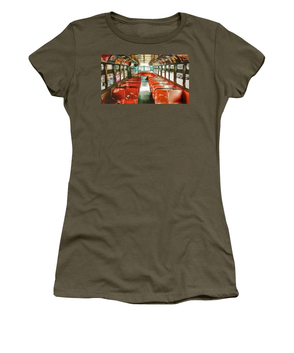 Vintage Women's T-Shirt featuring the photograph Mta's Vintage Bus by Victor Utama