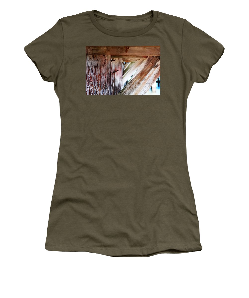 Pier Women's T-Shirt (Athletic Fit) featuring the photograph Nailed It by Holly Blunkall