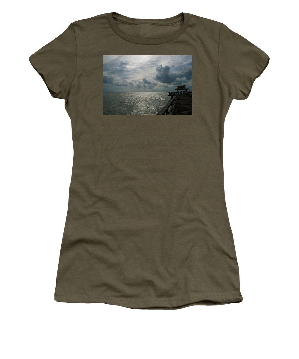 Beach Women's T-Shirt featuring the photograph Naples Pier by Joseph Yarbrough