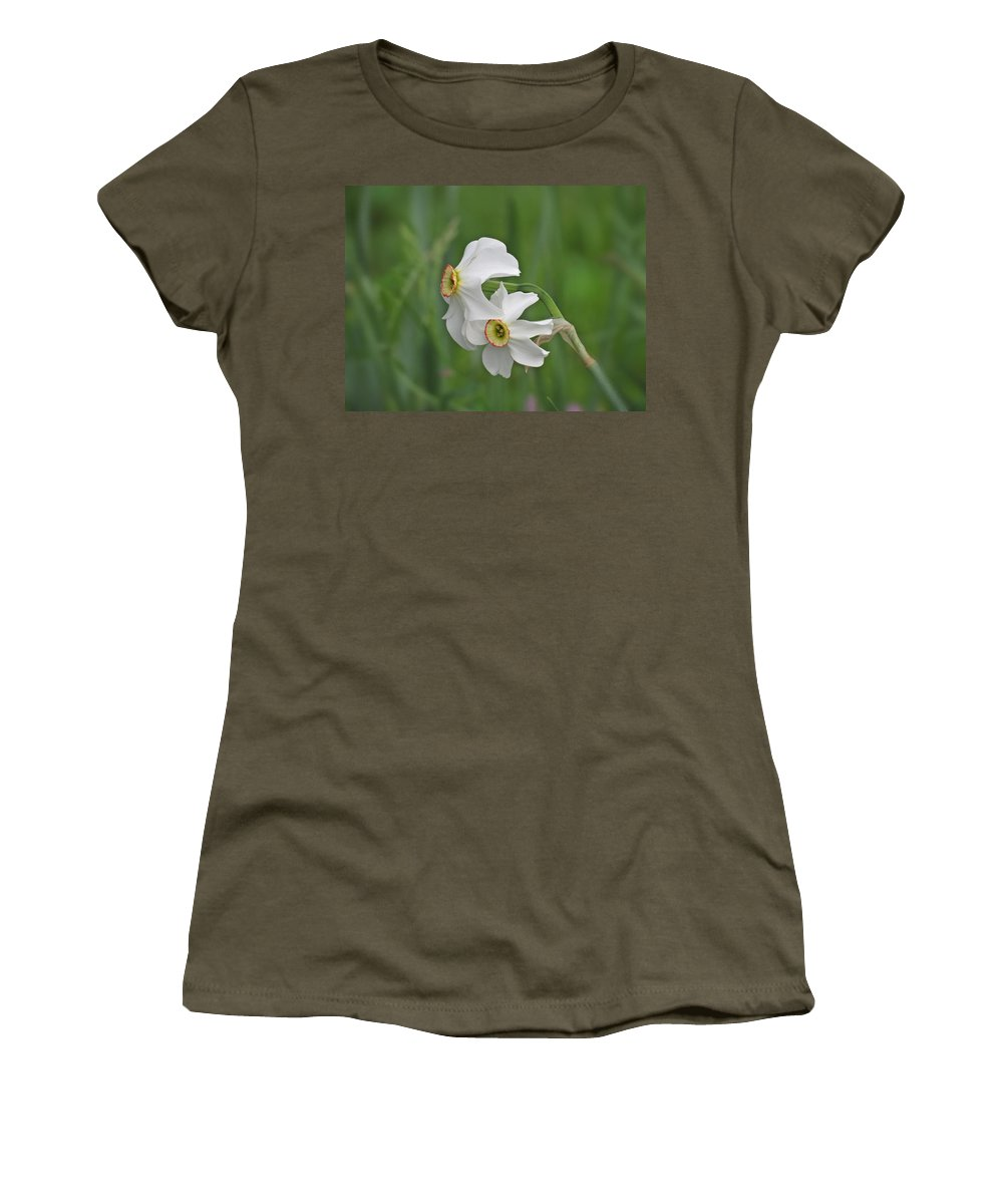 Narcissus Women's T-Shirt featuring the photograph Narcissus Pair by MTBobbins Photography