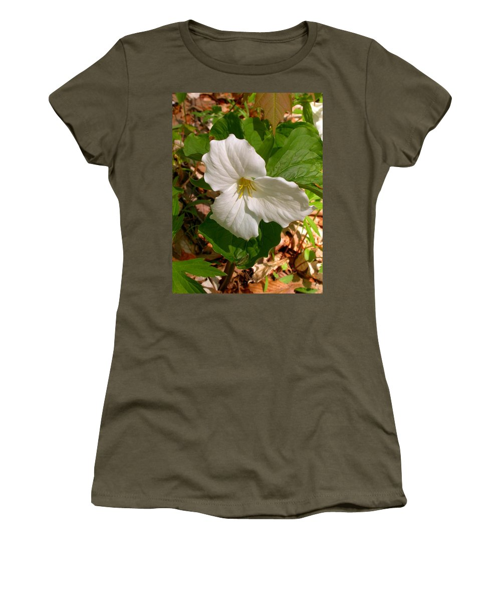 Women's T-Shirt featuring the photograph Native Trillium by Cynthia Wallentine