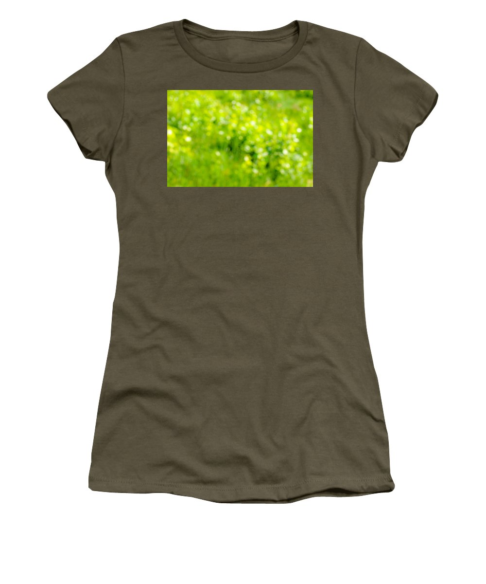 Abstract Women's T-Shirt (Athletic Fit) featuring the photograph Natural Bokeh by Alain De Maximy