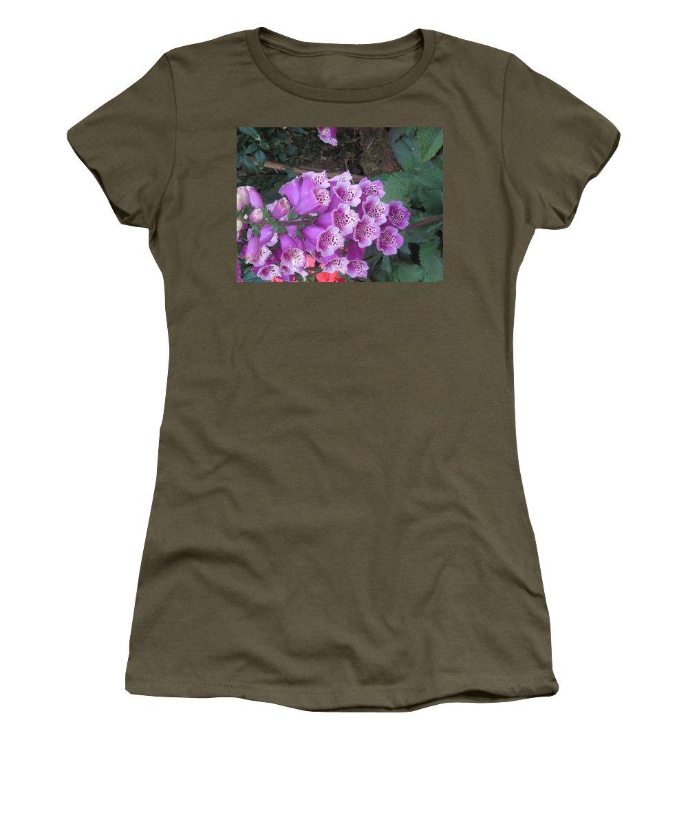 Natural Women's T-Shirt featuring the photograph Natural Bouquet Bunch Of Spiritul Purple Flowers by Navin Joshi