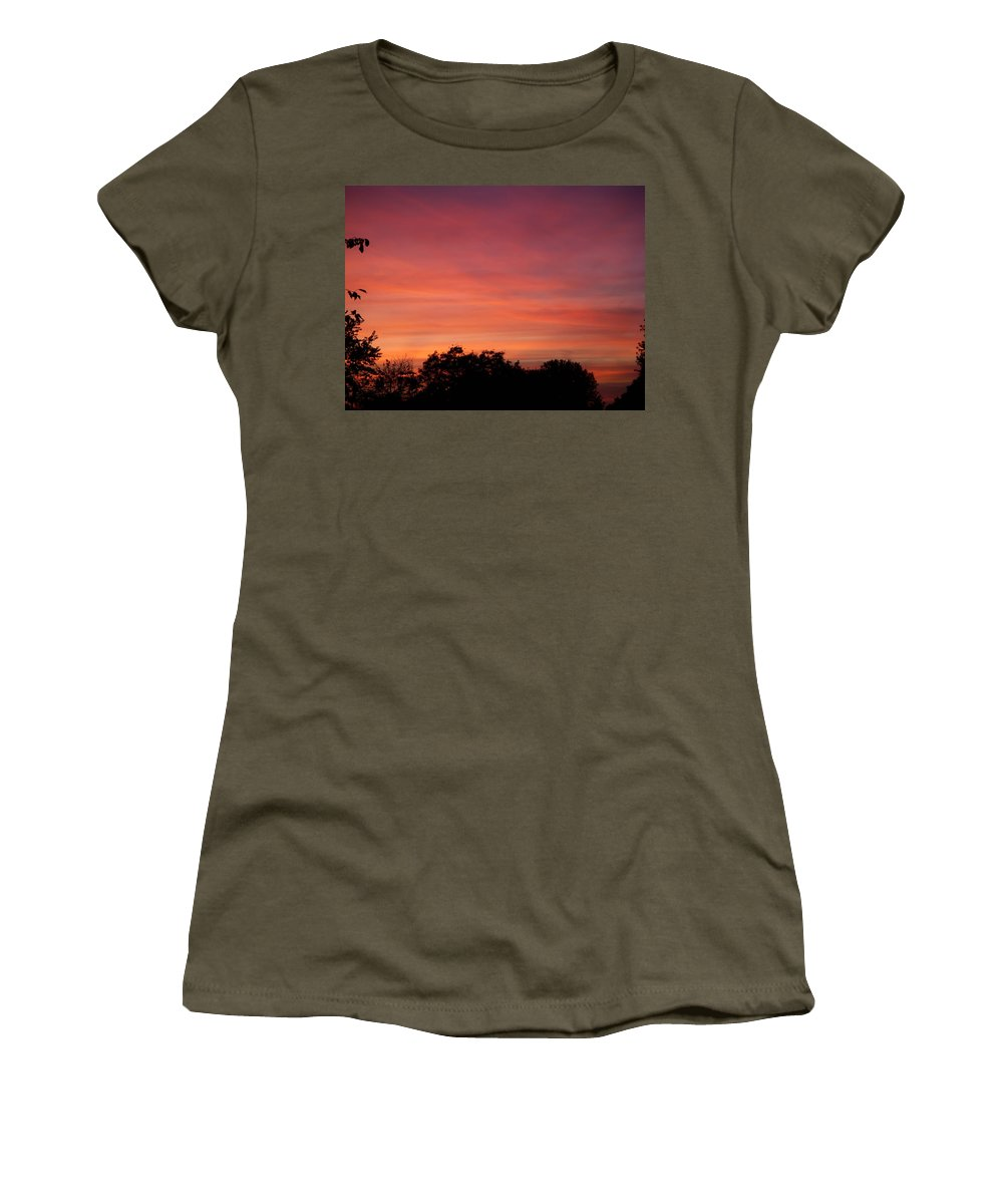 Sunset Women's T-Shirt featuring the photograph Natures Paint by Aimee L Maher ALM GALLERY
