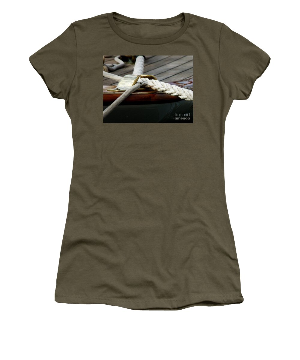 Nautical Women's T-Shirt featuring the photograph Nautical Textures by Lainie Wrightson