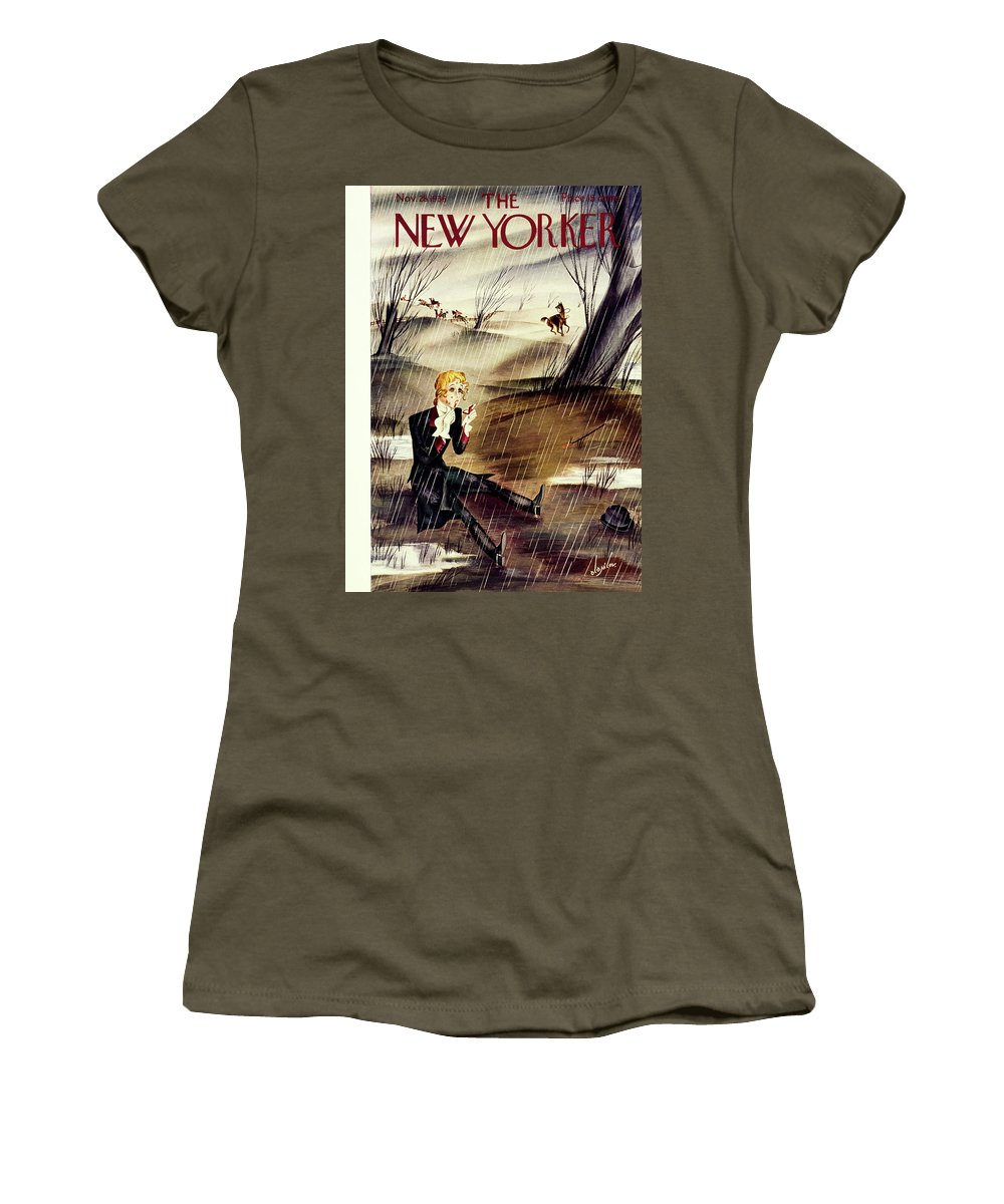 Animal Women's T-Shirt featuring the painting New Yorker November 28 1936 by Constantin Alajalov