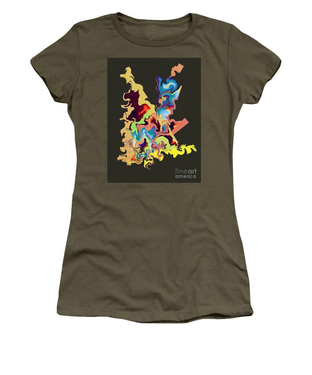 Women's T-Shirt featuring the digital art No. 1066 by John Grieder
