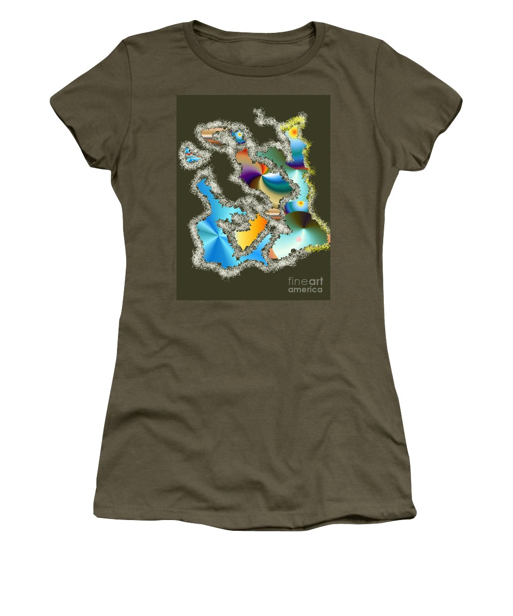 Women's T-Shirt (Athletic Fit) featuring the digital art No. 241 by John Grieder