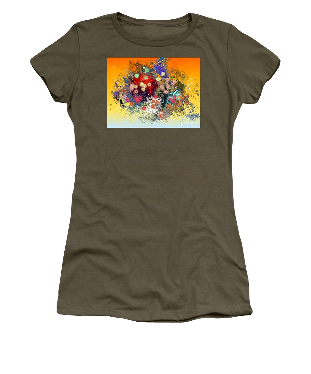 Women's T-Shirt (Athletic Fit) featuring the digital art No. 251 by John Grieder