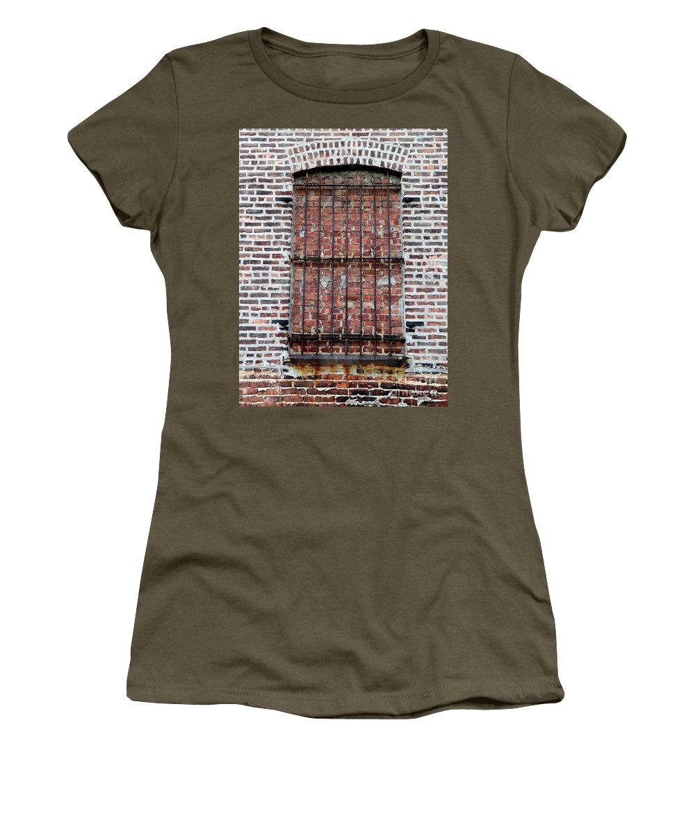 Bars Women's T-Shirt featuring the photograph No Escape by Ed Weidman