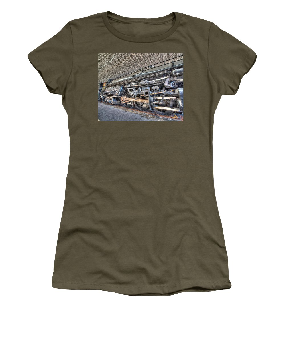 Historic Women's T-Shirt (Athletic Fit) featuring the photograph Norfolk And Western Locomotive 1218 by Greg Hager
