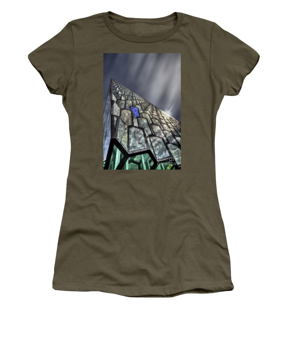 Harpa Women's T-Shirt (Athletic Fit) featuring the photograph Northern Star by Evelina Kremsdorf
