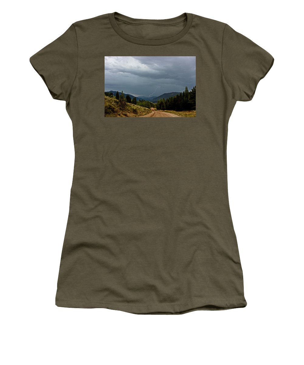 Lightning Women's T-Shirt featuring the photograph Not Enough Rain by Christina Warburg
