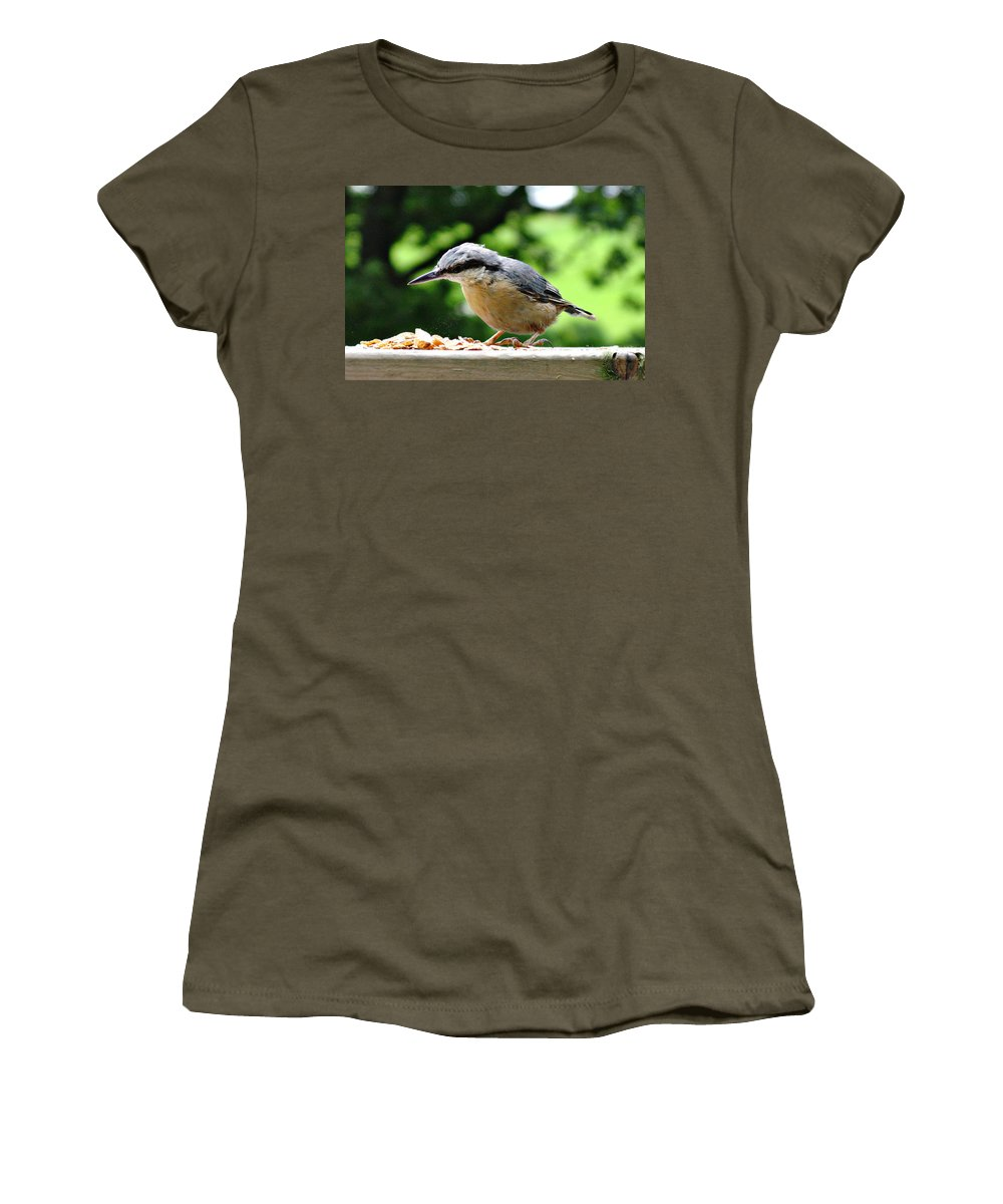Bird Women's T-Shirt featuring the photograph Nuthatch by Tom Conway
