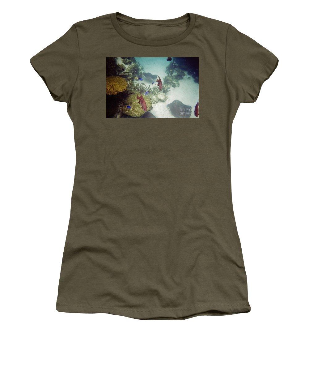 Underwater Women's T-Shirt featuring the photograph Ocean Bottom by D Hackett