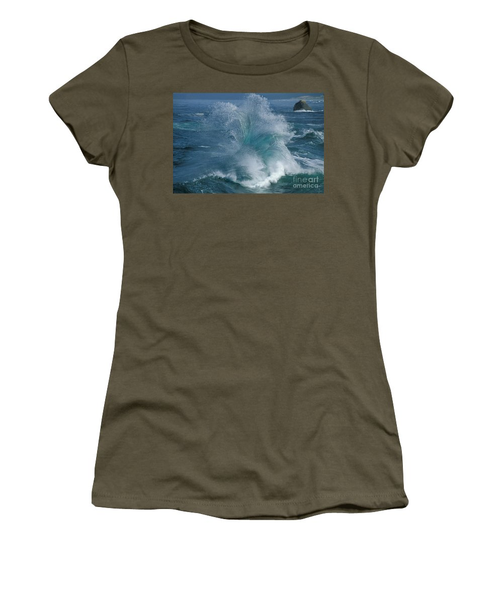 Water Women's T-Shirt featuring the photograph Ocean Wave by Ron Sanford