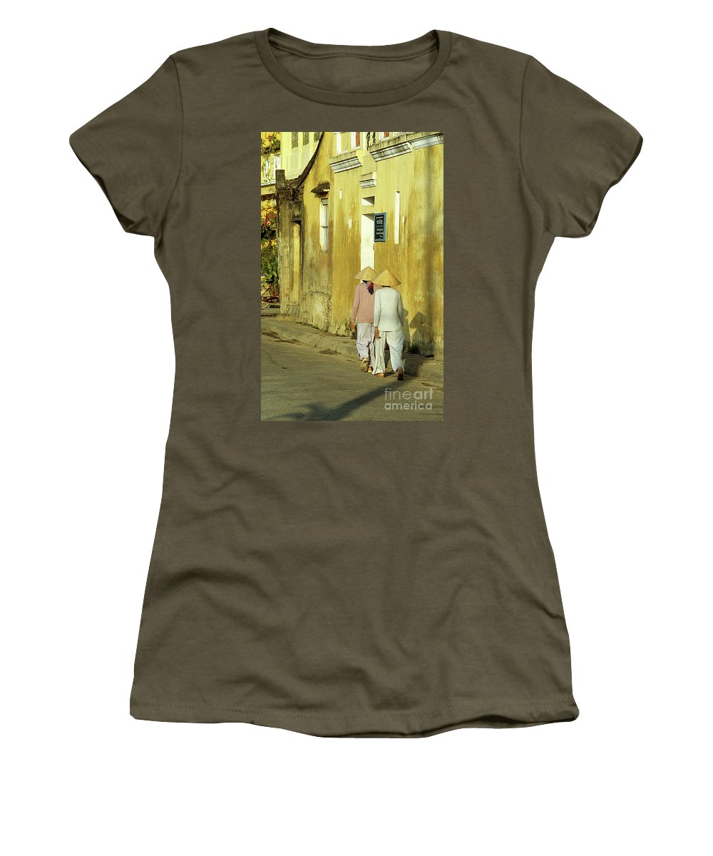 Vietnam Women's T-Shirt (Athletic Fit) featuring the photograph Ochre Wall 02 by Rick Piper Photography