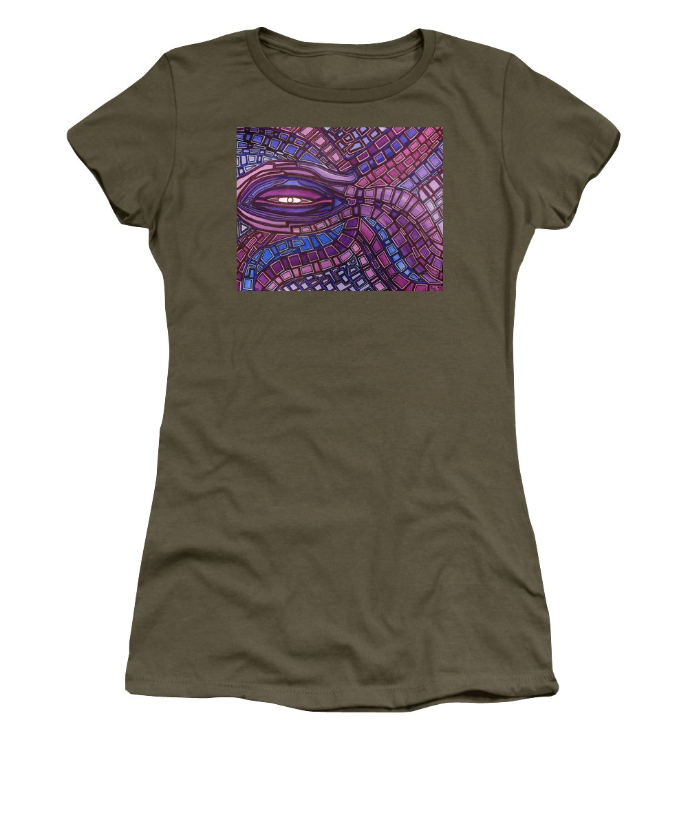 Octopus's Eye Women's T-Shirt featuring the painting Octopus Eye by Barbara St Jean