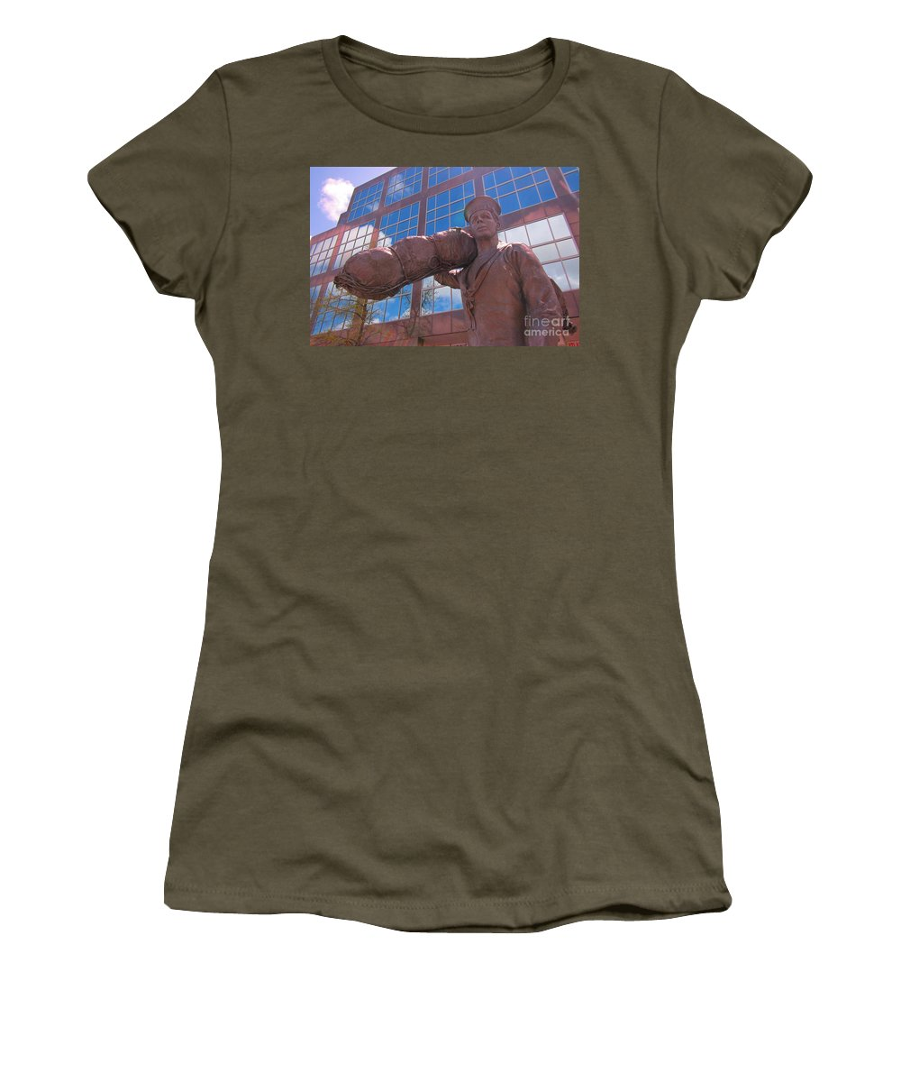 Military Service Art Women's T-Shirt featuring the photograph Off To Serve On The High Seas by John Malone