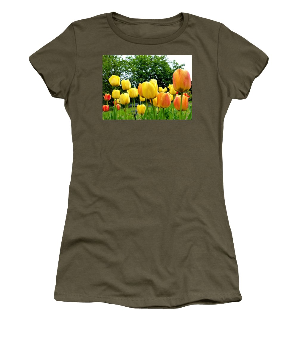 Okanagan Valley Tulips Women's T-Shirt featuring the photograph Okanagan Valley Tulips by Will Borden