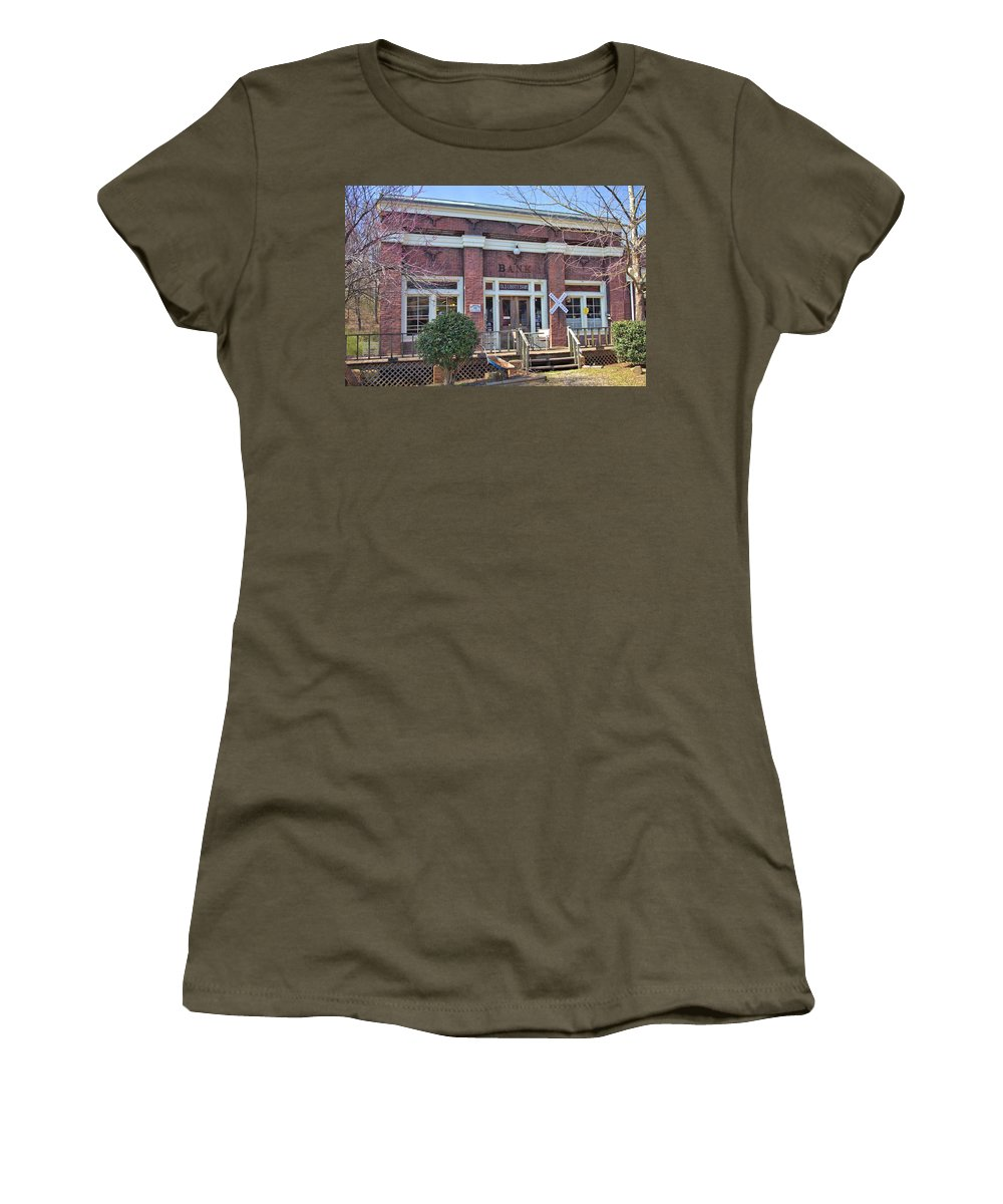 8181 Women's T-Shirt (Athletic Fit) featuring the photograph Old Bank by Gordon Elwell