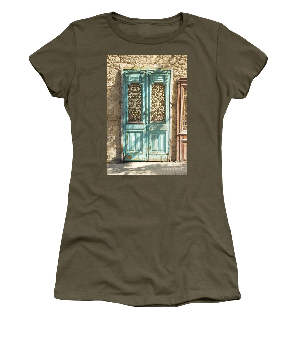 Architecture Women's T-Shirt featuring the photograph Old Door In Jersusalem Israel by Jacek Malipan