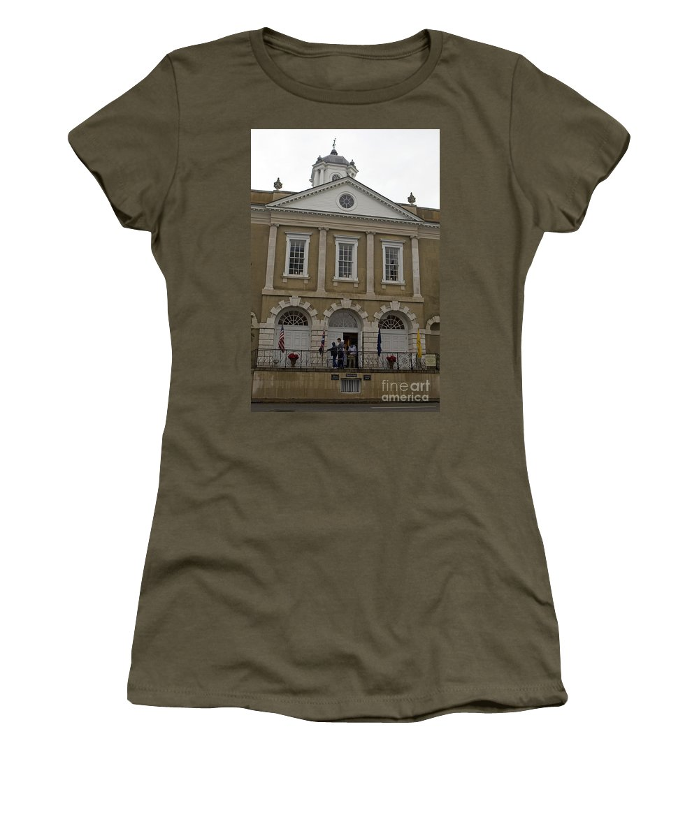 Old Exchange Women's T-Shirt featuring the photograph Old Exchange And Customs House Charleston South Carolina by Jason O Watson