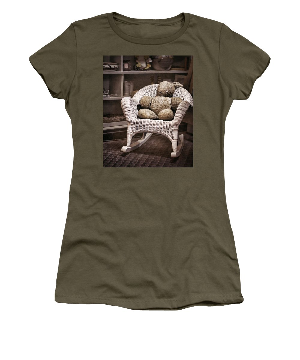 Stuffed Animal Women's T-Shirt featuring the photograph Old Friend by Heather Applegate