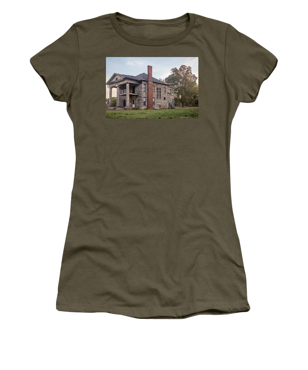 Architecture Women's T-Shirt (Athletic Fit) featuring the photograph Old House Of Character by Tracy Brock
