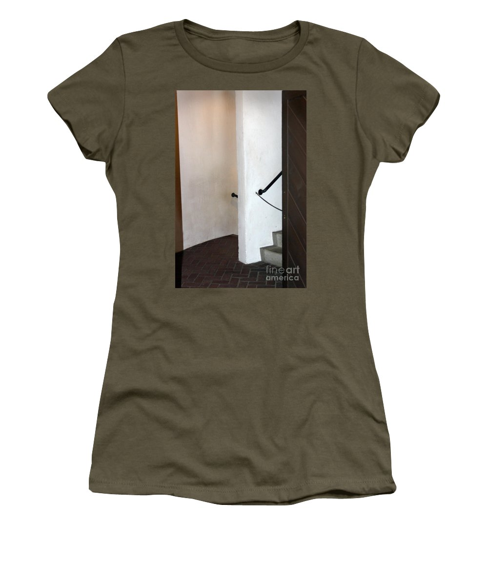 Antique Women's T-Shirt featuring the photograph Old Stair Abstract by Karen Adams