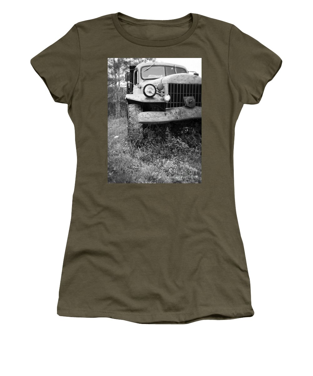 Truck Women's T-Shirt featuring the photograph Old Vintage Dodge Work Truck by Edward Fielding