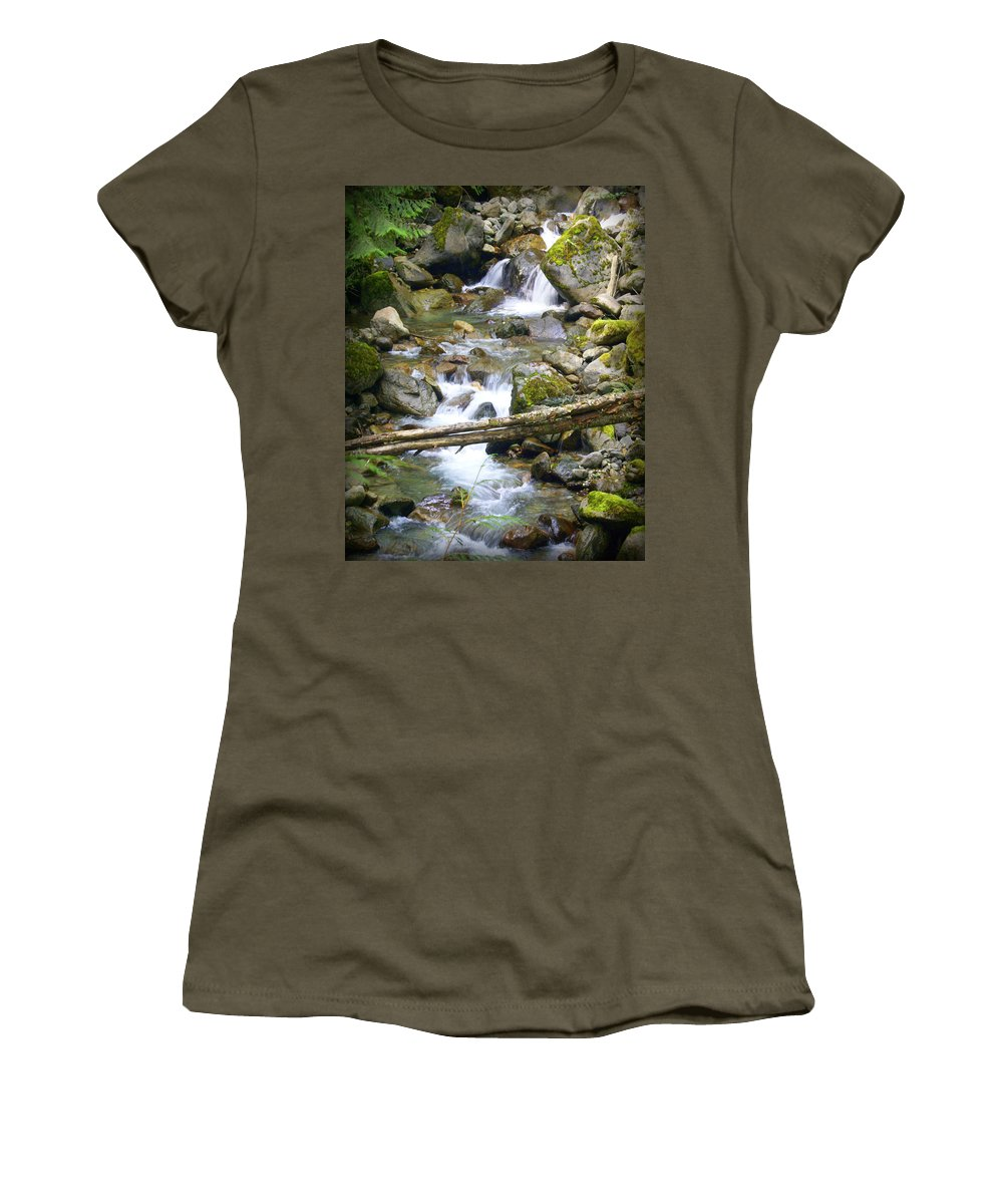 Olympic Mountains Women's T-Shirt featuring the photograph Olympic Range Stream by Marty Koch