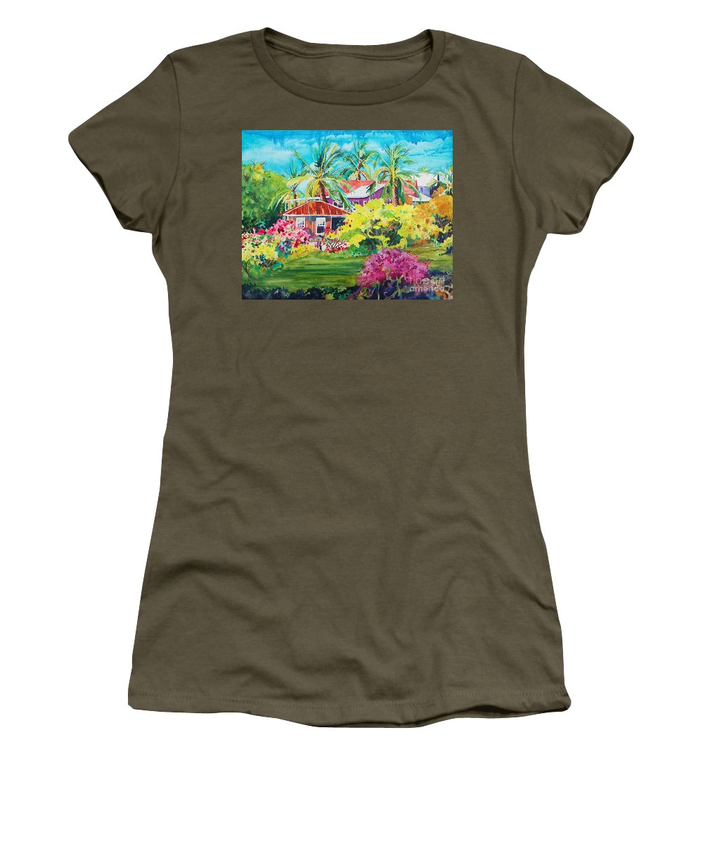 Miloli'i Women's T-Shirt (Athletic Fit) featuring the painting On The Big Island by Terry Holliday