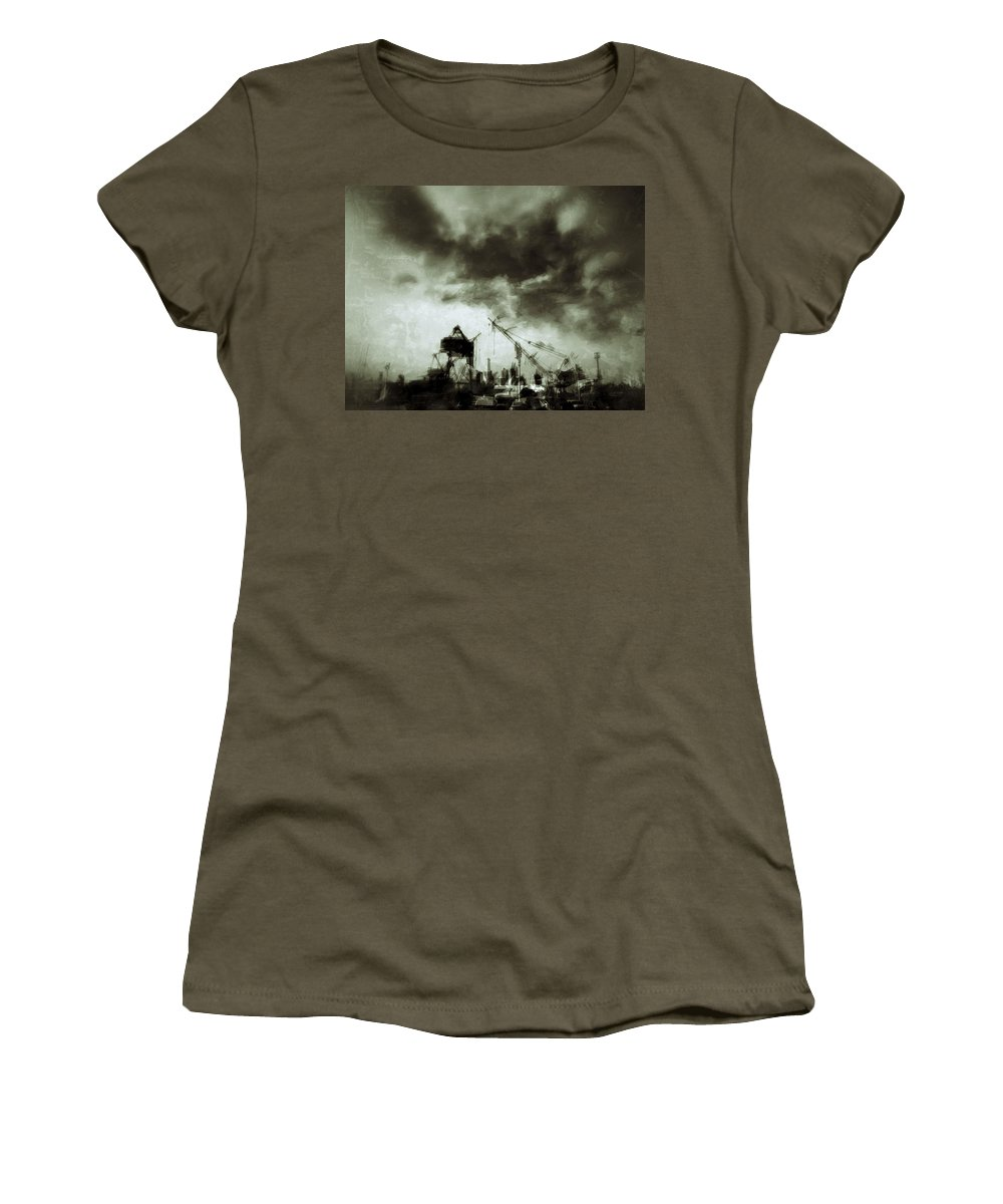 Urban Women's T-Shirt featuring the photograph On The Waterfront by H James Hoff