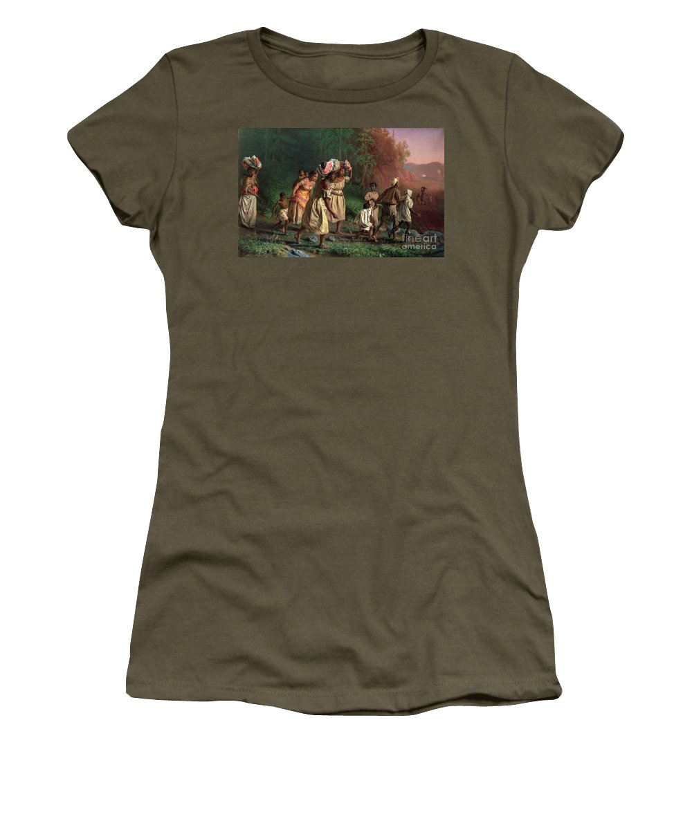Theodor Kaufmann Women's T-Shirt featuring the painting On To Liberty by Theodor Kaufmann