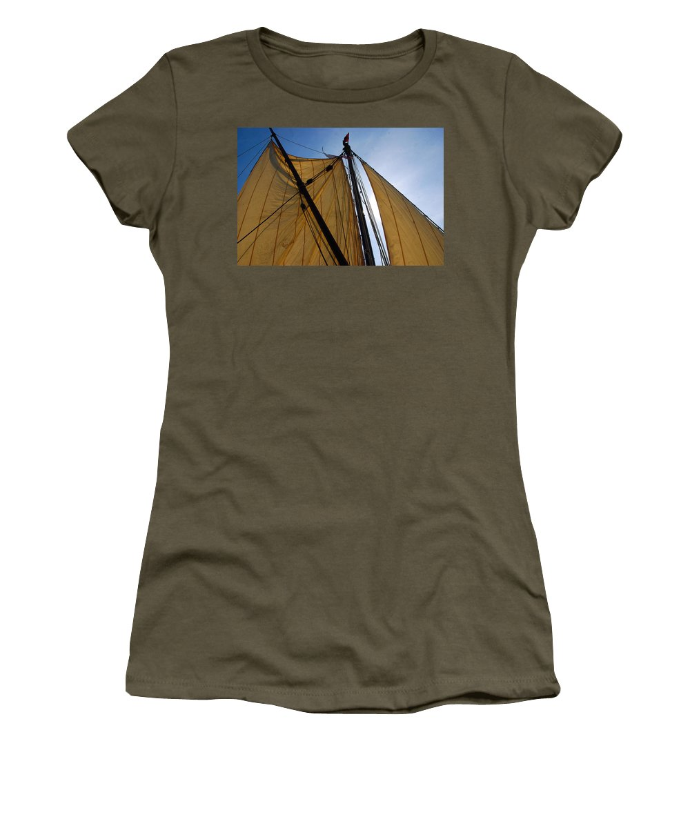 Boats Women's T-Shirt featuring the photograph Onrust by John Schneider