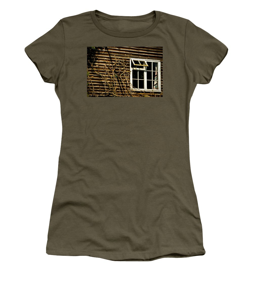 Board Women's T-Shirt featuring the photograph Open Window by Mark Llewellyn