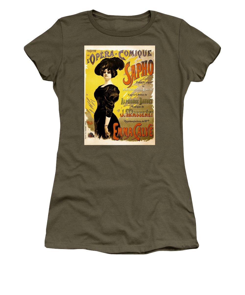 Opera Comique Women's T-Shirt featuring the photograph Opera Comique 1897 by Mountain Dreams