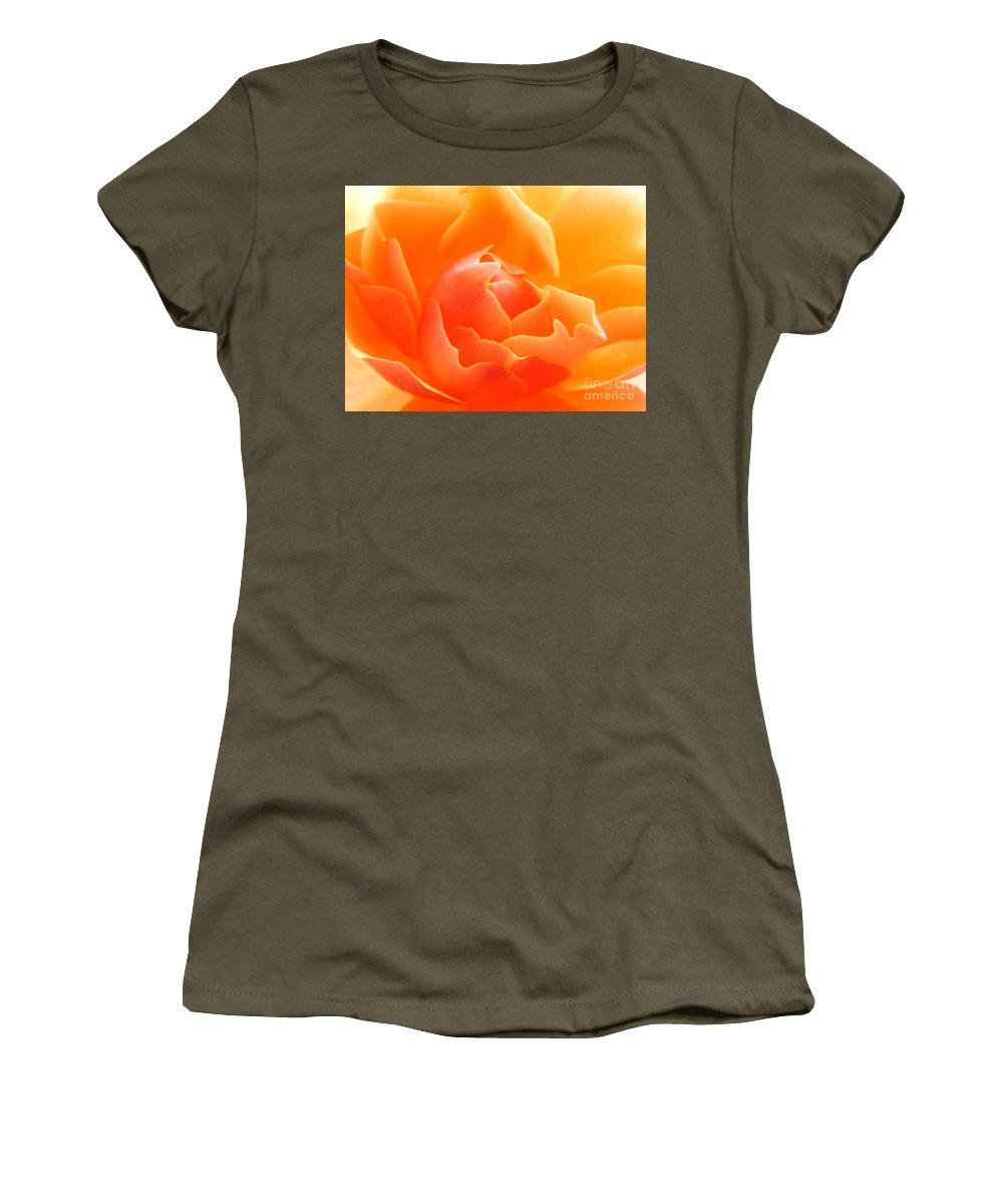 Roses Women's T-Shirt featuring the photograph Orange Sherbet by Deb Halloran