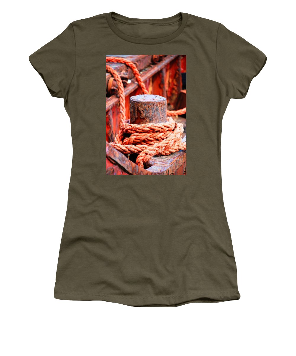 Rope Women's T-Shirt featuring the photograph Orange Twist by Charlie and Norma Brock