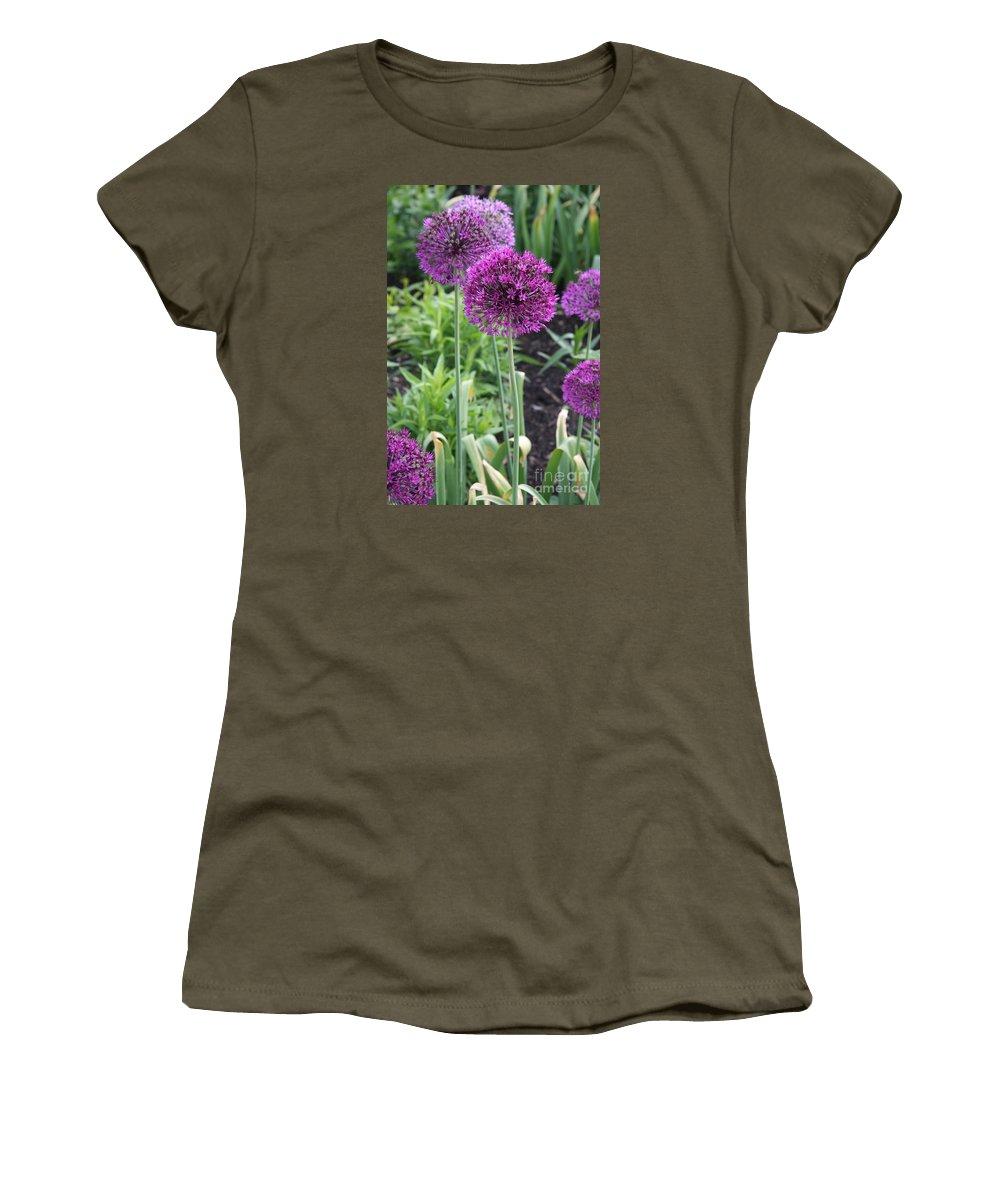 Flowers Women's T-Shirt featuring the photograph Ornamental Leek Flower by Christiane Schulze Art And Photography