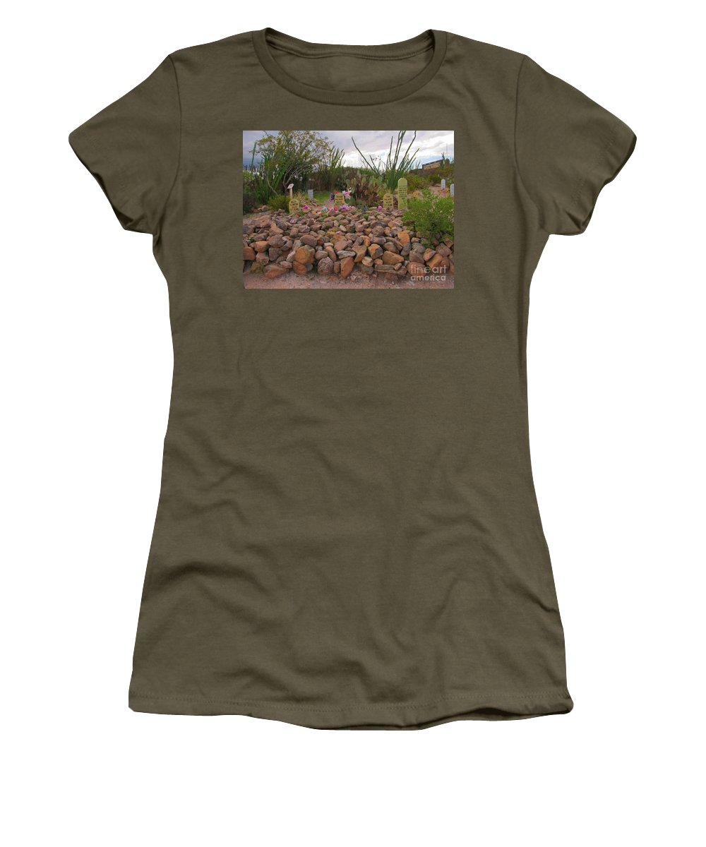 Outlaw Graves Women's T-Shirt featuring the photograph Outlaw Graves by John Malone