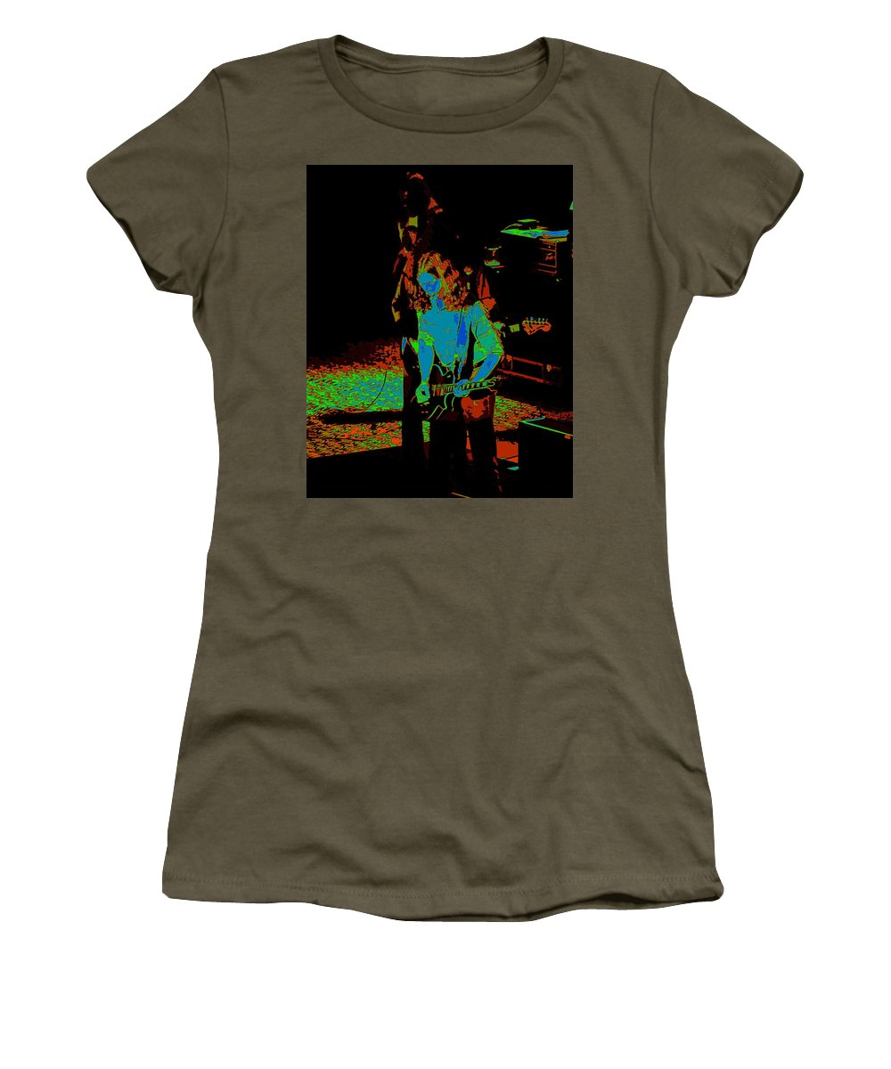 Outlaws Women's T-Shirt featuring the photograph Outlaws #27 Art Psychedelic by Ben Upham